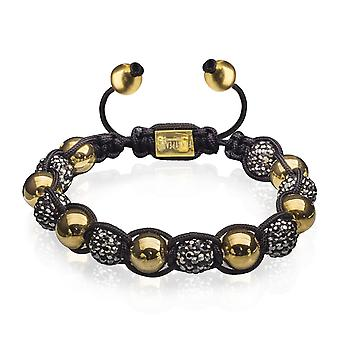 FUNKYPEARLS golden disco Beads Bracelet black