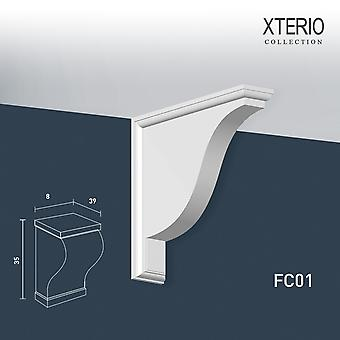 White console ORAC decor FC01 XTERIO wall bracket for canopy Zierlement timeless classic design