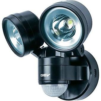 LED outdoor floodlight (+ motion detector) 8 W Neutral white GEV Duo LLL 14718 014718 Black