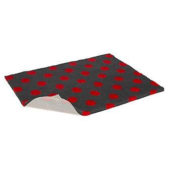 Skridsikre Vetbed kul med rød Polka Dot 66x51cm (26 x 20