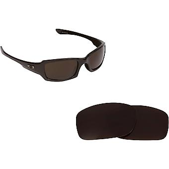 New SEEK Replacement Lenses for Oakley FIVES SQUARED Brown Blue Mirror