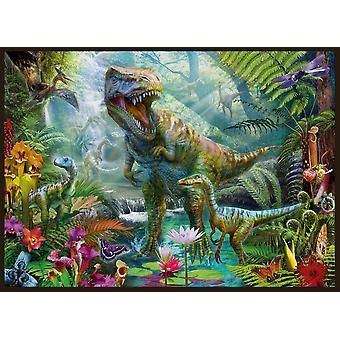 Dino jungelen Scene Poster trykk av Jan Patrick