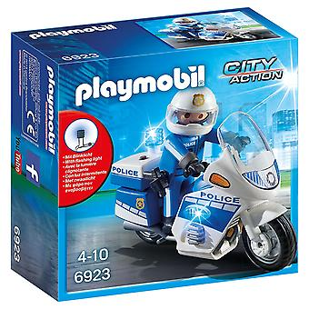 Playmobil 6923 Police Bike with LED Light