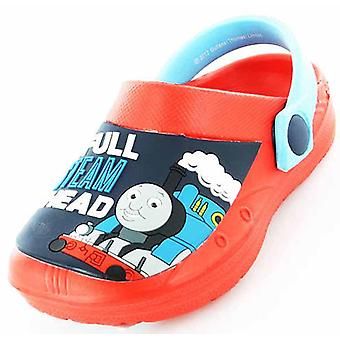 Boys Kids Thomas The Tank Cartoon Character Casual Sea Beach Clogs Shoe 61971
