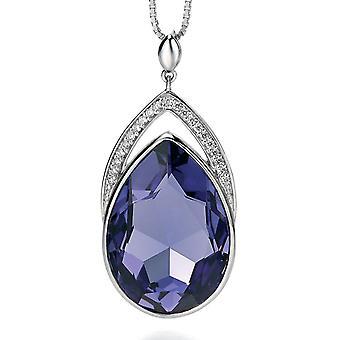 925 Silver Swarovski Crystal And Zirconium Fashionable Necklace