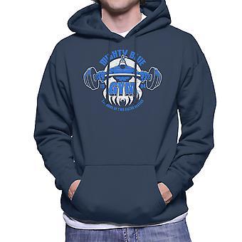 Mægtige blå Gym kryds mænds hættetrøje