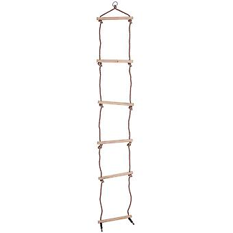 Bigjigs Toys Rope Ladder - 6 Sturdy Wooden Rungs - Climbing Frame or Tree house