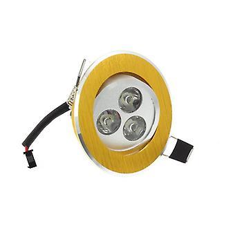 LumoS alta qualità Epistar 3 watt oro cerchio alluminio LED Spot da incasso