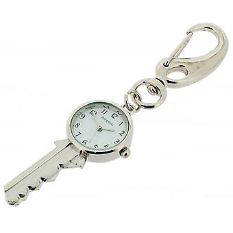 Gift Time Products Key Clock Key Ring - Silver