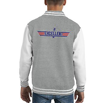 Chaqueta Varsity de Top Gun Logo Bill y Teds excelente aventura infantil