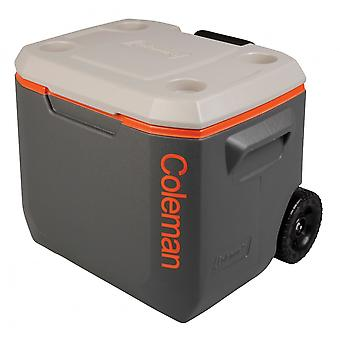 Coleman Tri-Colour 50QT Xtreme 47 Litre Wheeled Cooler - Grey/Orange