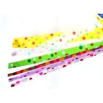 SALE - 6 Assorted 4.5m Spotty Spring or Easter Curling Ribbon Rolls