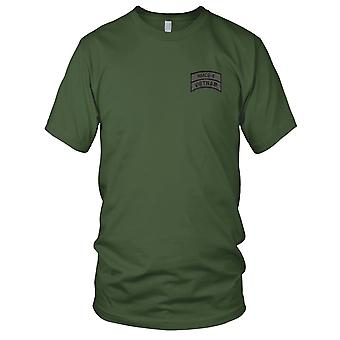 US Navy NMCB-8 Vietnam OD Embroidered Patch - Mens T Shirt