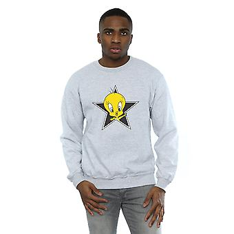 Looney Tunes Men's Tweety Pie Star Sweatshirt