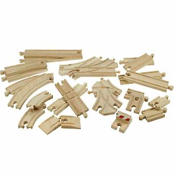 Bigjigs Wooden Railway 25 Piece Track Pack BJT052