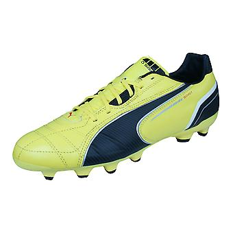 Puma Spirit MG Mens Leather Football Boots / Cleats - Yellow