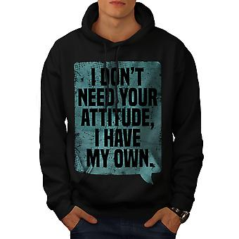 My Attitude Saying Funny Men BlackHoodie | Wellcoda