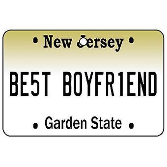 New Jersey - Best Boyfriend License Plate Car Air Freshener
