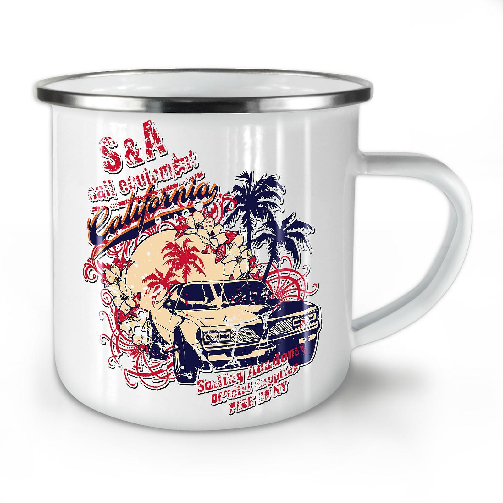 OzWellcoda Voiture Nouveau Émail Vintage Café Whitetea Palm Mug10 nwNOyv0P8m