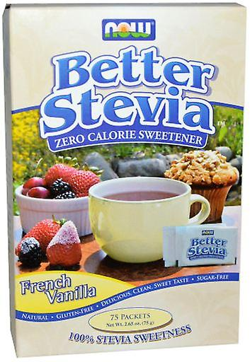 Now Foods Better Stevia French Vanilla 75 Packets (Diet , Sweeteners)