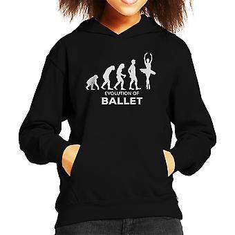 Evolution Of Ballet Kid's Hooded Sweatshirt