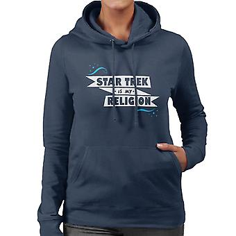 Star Trek Is My Religion Women's Hooded Sweatshirt