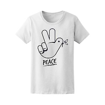 Peace Sign With Tree Branch Tee Women's -Image by Shutterstock