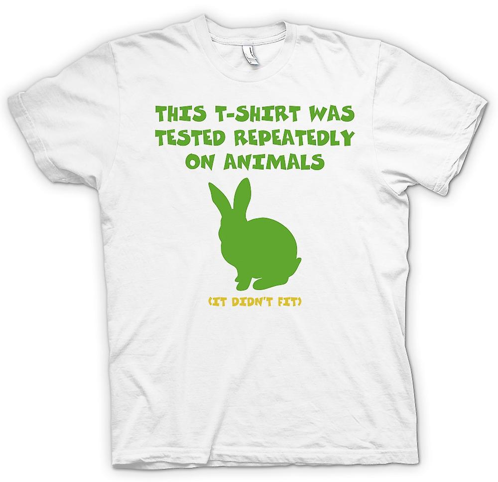 Womens T-shirt - This T Shirt Was Tested On Animals, It Didn�t Fit