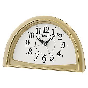 Seiko analog PIP Alarmklokke gull (Modell nr. QHE166G)