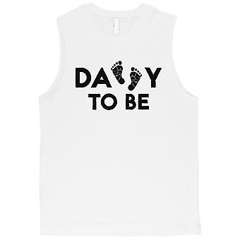 Daddy To Be Mens White Muscle Shirt