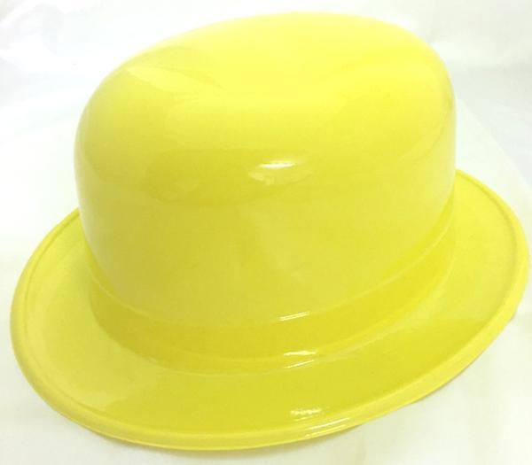 Bowler Plastic Hat Yellow