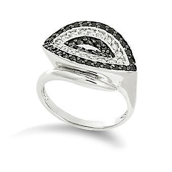Orphelia argento 925 anello B&W zirconio ZR-3547