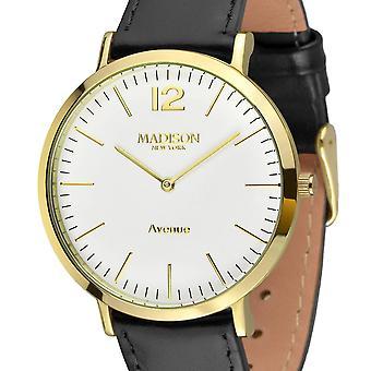 MADISON NEW YORK ladies watch wristwatch leather L4741C2 Avenue