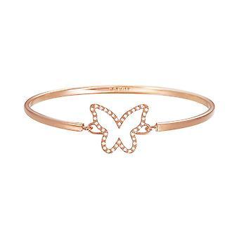 Esprit Damen Armband Armreif JW50219 Edelstahl Rosé ESBA01179C600