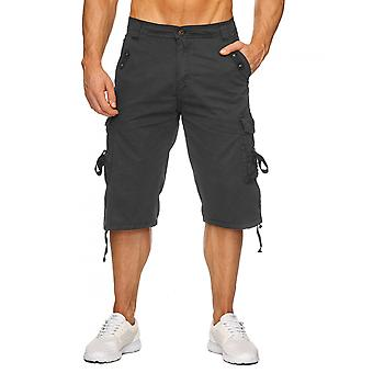 Men's Cargo Capri Shorts Summer Bermuda Short Trousers Loose Fit Casual Bags