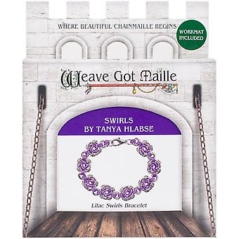 Chainmaille Bracelet Jewelry Kit-Lilac Swirl/Lavender
