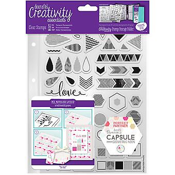 Creativity Essentials A5 Clear Stamps-Geometric Neon
