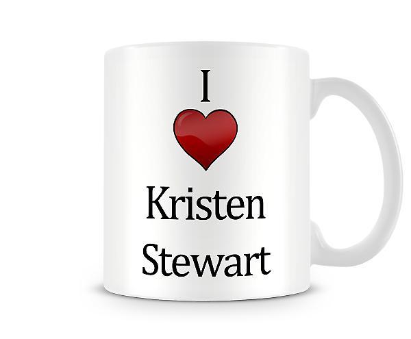 Jag älskar Kristen Stewart Tryckt Mugg