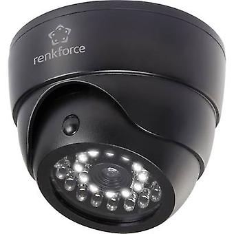 Renkforce 1325938 Dummy camera with motion detector, with IR spotlight