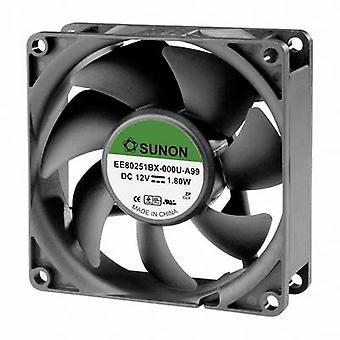Sunon EE80251BX-000U-A99 aksial fan 12 Vdc 76.45 m³/t (L x b x H) 80 x 80 x 25 mm