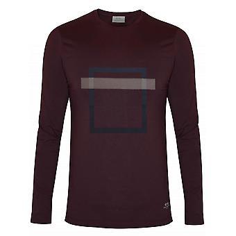 CC Collection Corneliani Corneliani Burgundy Square Print T-Shirt