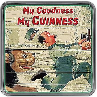 Guinness Zookeeper Lion Cork Backed Drinks Coaster 100Mm X 100Mm