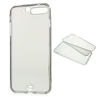 Crystal Case cover for Apple iPhone 7 plus grå ramme hele kroppen