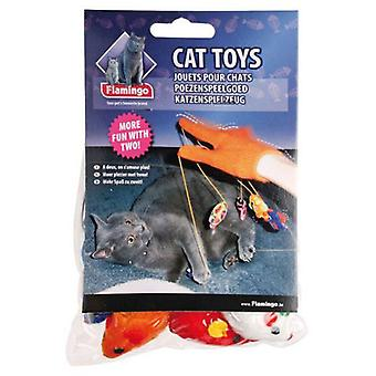 Flamingo Glove With Mice (Cats , Toys , Plush & Feather Toys)