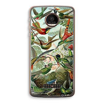 Motorola Moto Z Force Transparent Case (Soft) - Haeckel Trochilidae