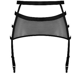 Marlies Dekkers 17654 Women's Spider Black Solid Colour Garter Belt Suspender Belt