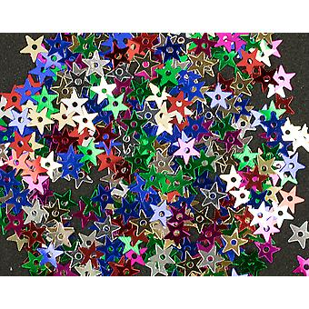 5mm Assorted Colour Sequin Stars - 400pk | Sequin Craft Supplies