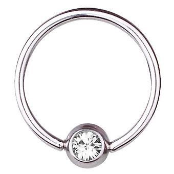 BCR Titan Piercing Ball Closure Ring 1,2 mm, SWAROVSKI Elemente weiß   6-12
