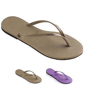 Womens Havaianas You Metallic Rose Gold Sumer Rubber Brazil Flip Flops