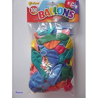 Globos ballonnen nr8 assorti zak a100st